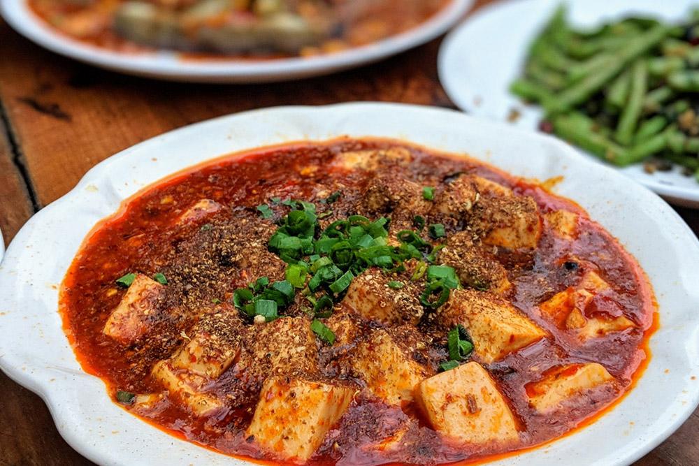Mapo doufu (麻婆豆腐), a Popular Chinese Tofu Dish